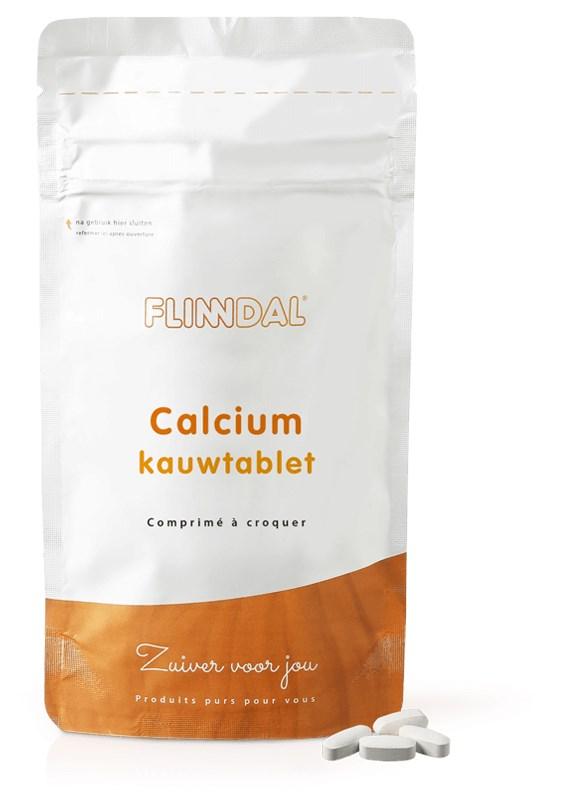 Afbeelding van Calcium kauwtablet (Voor botten en tanden, met vitamine D) - 30 Tabletten - Flinndal - 30 Tabletten - Flinndal