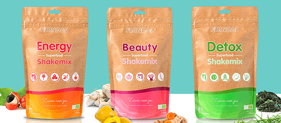 Nieuw: 3x Flinndal Superfood Shakemix